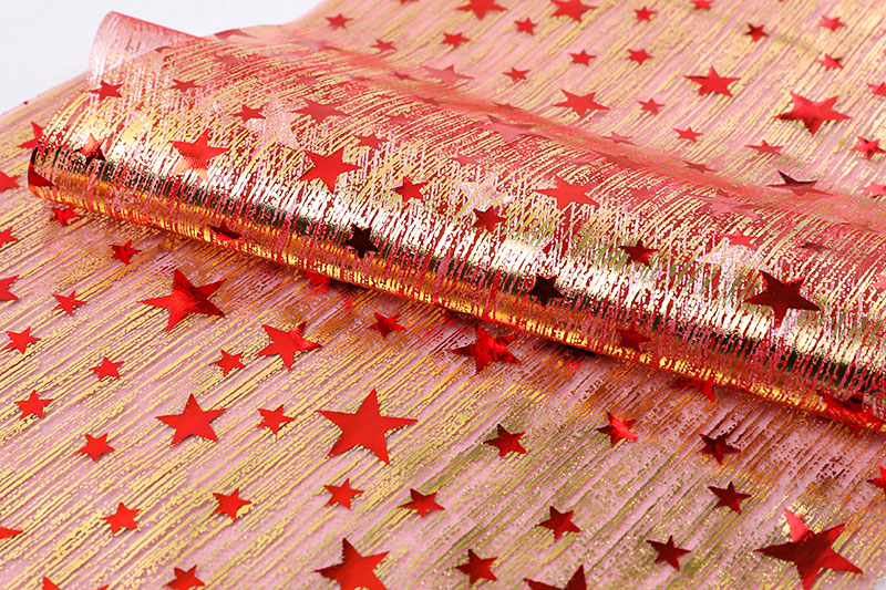 Organza organza with bronzing star